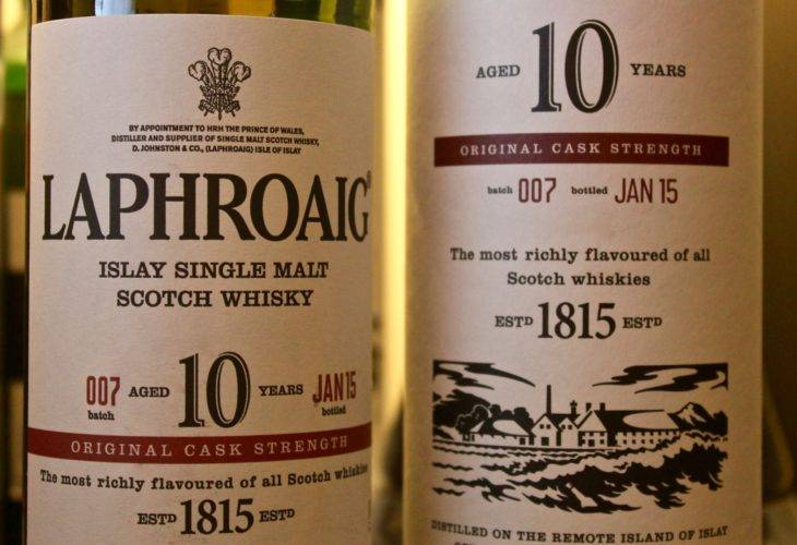 Laphroaig 10 years old Cask Strength Batch 007