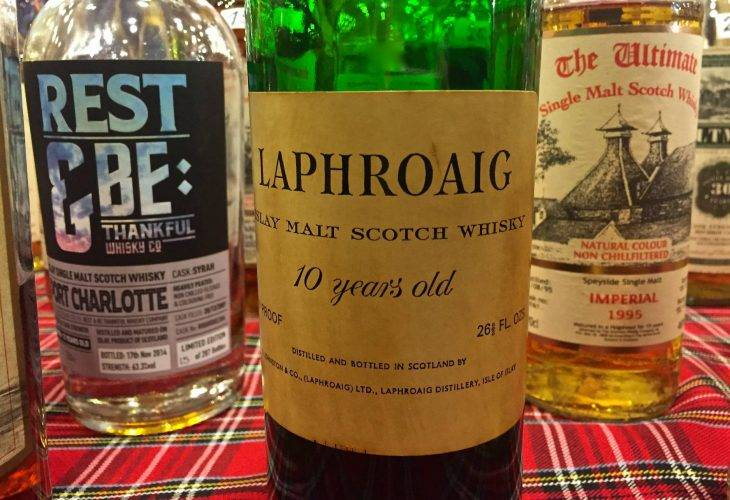 Laphroaig 10 years old 70 proof from 70s