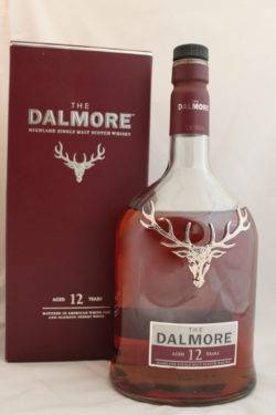 The Dalmore 12 years old bottle and box