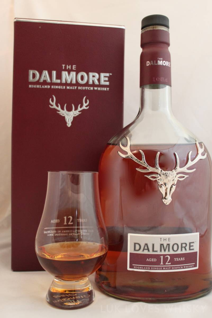 Whisky - The Dalmore 12 years old, glencarin glass
