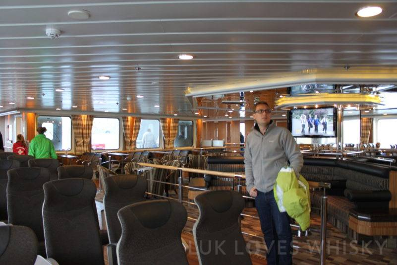 Comfortable ferry's interior, comfortable seats, spacious and safe
