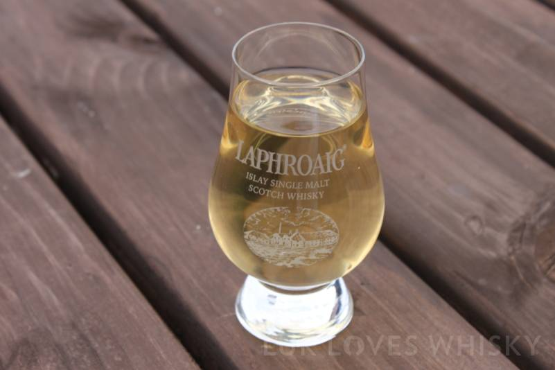 Water straight from its source, the taste with a hint of peat, Laphroaig Distillery