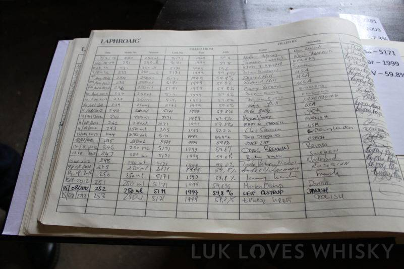 whisky registration, Laphroaig Distillery