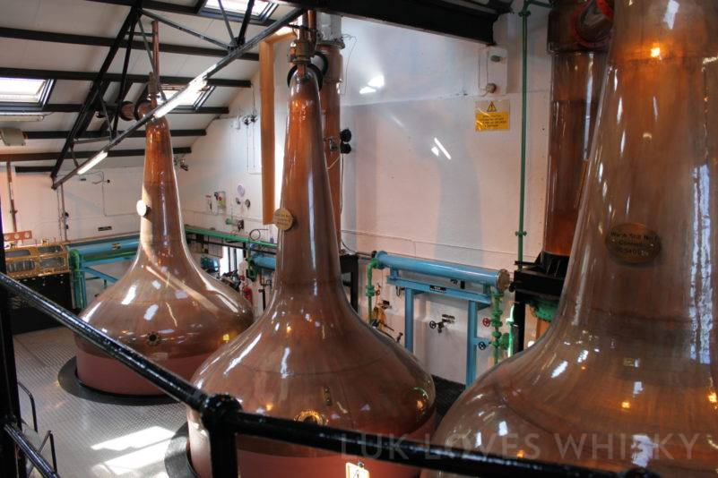 Bowmore Distillery - pot stills