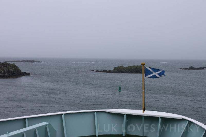 Sailing away from Islay of Islay