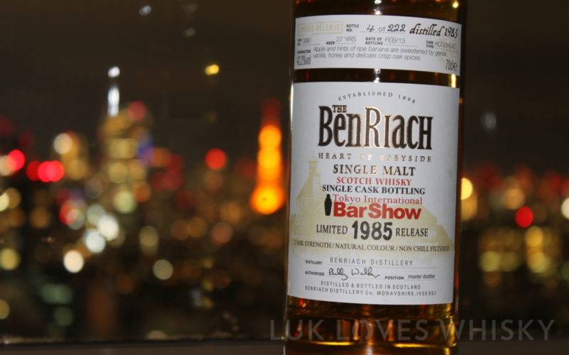 BenRiach 1985 Limited Release Tokyo International Bar Show