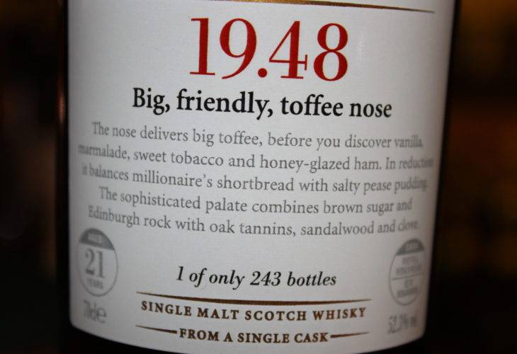 Scotch Malt Whisky Society 19.48
