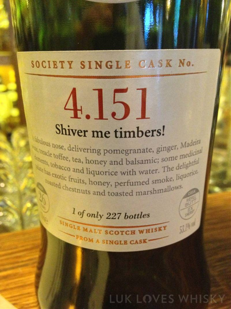 Scotch Malt Whisky Society 4.151