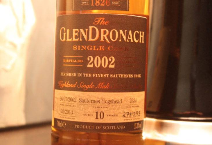 GlenDronach Single Cask 2002 Tokyo International Bar Show
