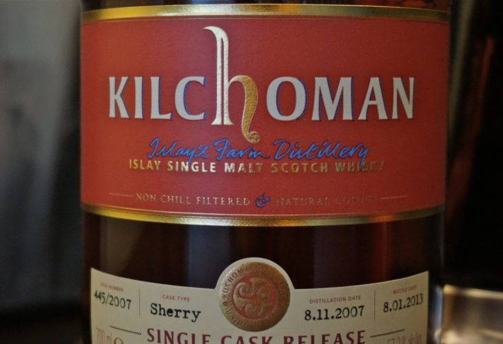 Kilchoman 5 years old Single Cask Release Tokyo International Bar Show