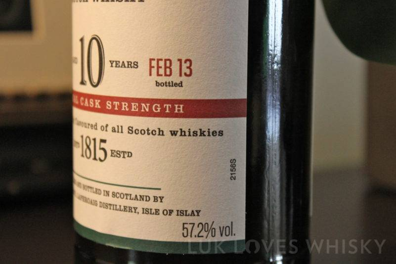 Laphroaig 10 years old Cask Strength Batch 005