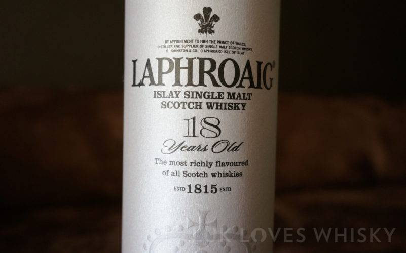 Disappointment on presentation of Laphroaig 18 years old Diamond Jubilee