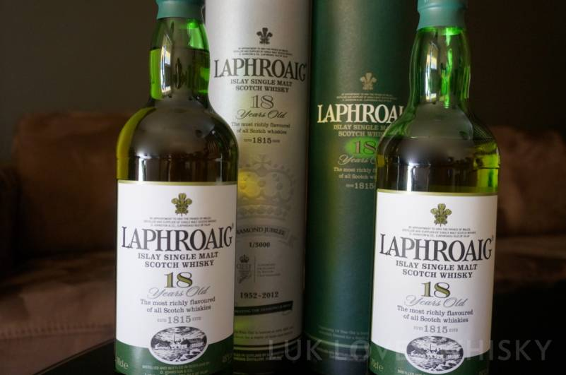 Laphroaig 18 years old Diamond Jubilee & Laphroaig 18 years old