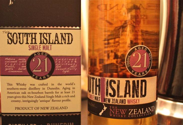 The New Zealand Whisky The South Island 21 years old