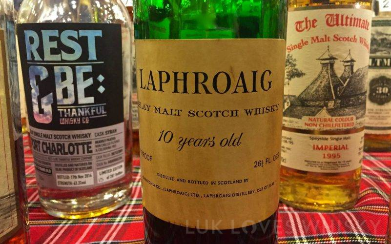 Laphroaig 10 years old 70 proof z lat '70
