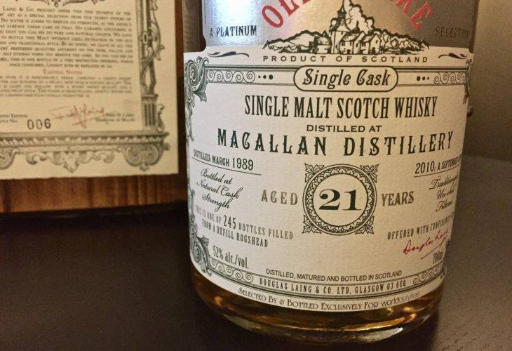Macallan 21 years old, 1989/2010, Douglas Laing, Old & Rare, Platinum Selection