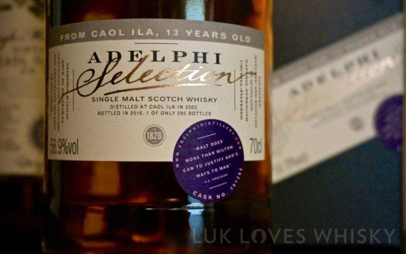 Caol Ila 13 years old, 2003/2016, cask 301264, Adelphi