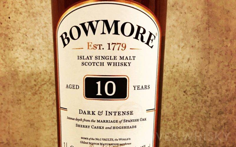 Bowmore 10 years old Dark & Intense, 40% ABV